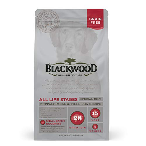 Blackwood Pet Food 22358 All Life Stages, Special Diet, Grain Free, Buffalo Meal & Field Pea Recipe, 30Lb.