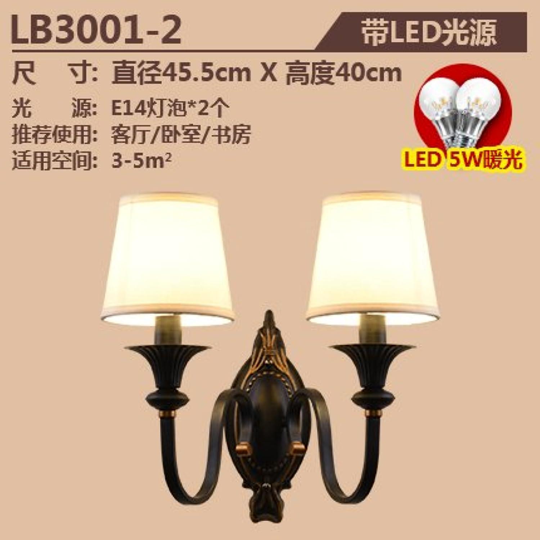 StiefelU LED Wandleuchte nach oben und unten Wandleuchten Bügeleisen doppelte Wand lampe Nachttischlampe Schlafzimmer Wohnzimmer an der Wand zu, Dual Head mit LED-Lichtquelle