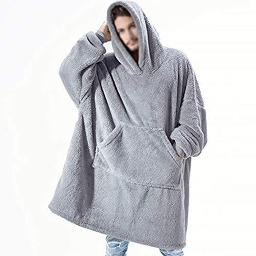 Blankets Funda con capucha para llevar con mangas sudadera de tela suave, diseño de bolsillo grande, cálido y cómodo, hombres y mujeres pueden llevar regalos de cumpleaños de vacaciones de los niños