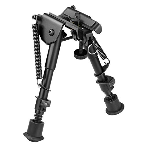 CVLIFE Rifle Bipod, 6-9 Inch Adjustable Super Duty Tactical Bipod (Aluminum)