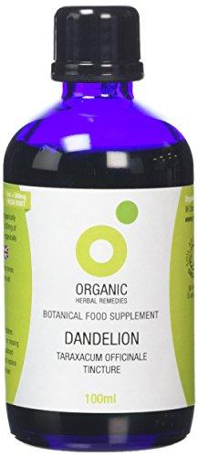 Organic Herbal Remedies,Dandelion Tincture, Blue Bottle, 100 ml