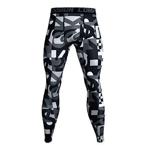Sportuitrusting Hardlopen Voetbal Training Fitness Compressie Panty Broeken Voor Mannen, Grootte: L (Rode Bliksem)