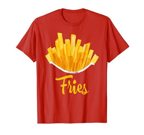 Disfraz de papas fritas fritas para Halloween Camiseta