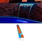 Warmpool Oferta Cascada empotrable con LED 60CM Incluye Fuente de alimentación y Control Remoto...