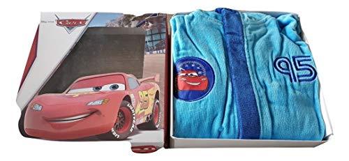 Deliciosa albornoz infantil Cars 95 con capucha en caja Material esponja algodón tallas 4/5-6/7-8/9 años