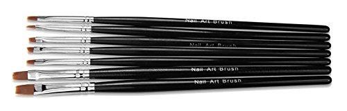 NEW Nail Art Gel et acrylique Pinceau Set 7 pièces noir Nail Accessoires