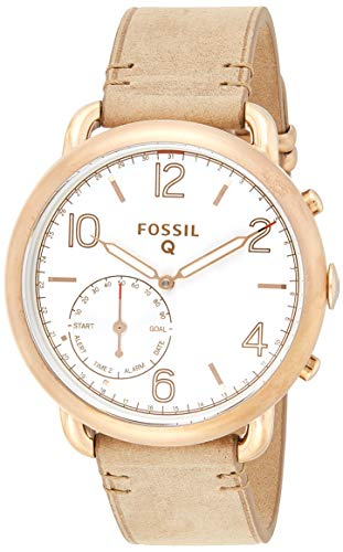Produktbild Fossil Damen Hybrid Smartwatch Q Tailor - Leder - Braun Elegante analoge Damenuhr im Vintage Design mit vielen Smartfunktionen Für Android & iOS