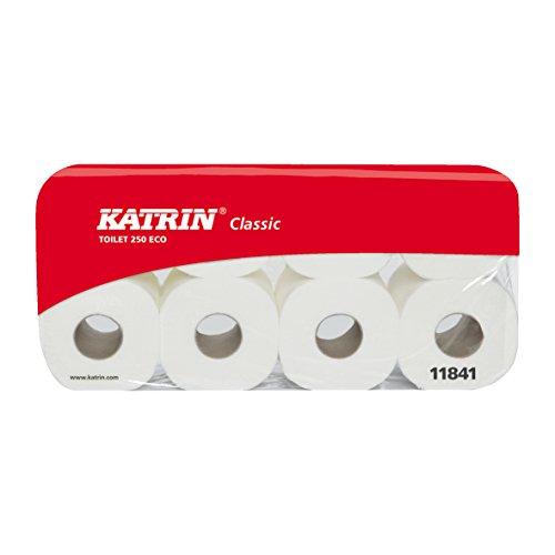 Katrin Classic Toilet 250 ECO Toilettenpapier, Klopapier, WC-Papier, 3-lagig, weiss, Katrin-Artikelnr. 11841 (144)