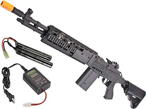 Evike Airsoft - CYMA Sport Airsoft Metal M14 EBR Designated Marksman Rifle AEG (Color: Silver/EBR Stock)