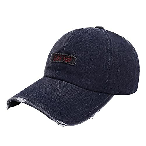 Gorra béisbol Sun Hat Gorra béisbol bordada mezclilla Moda para mujer Gorras lavadas con microdermoabrasión Aleros doblados para hombres que cubren la cara Sombrero para el sol cumpleaños para ella