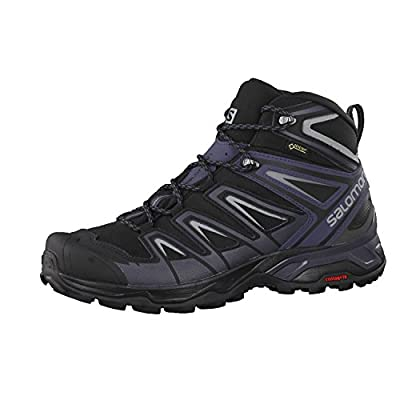 Salomon Men's X Ultra 3 MID GTX Hiking, Black/India Ink/Monument, 10