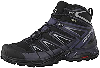 Salomon mens X Ultra 3 Mid Gtx Hiking, Black/India Ink/Monument, 10.5 US