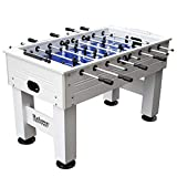 Highlander 55-in Outdoor Foosball Table with Waterproof Surface, Anti-Rust Rods, Ergonomic Handles, and Analog Scoring, White