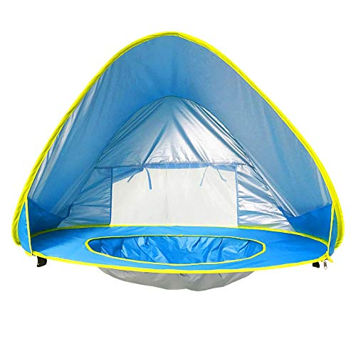 ZENING Tent Portable Quick-opening Baby Beach Tent Outdoor Ultralight Camping Tent Foldable Children and Family Beach Camping Fishing Hiking Travel, Blue