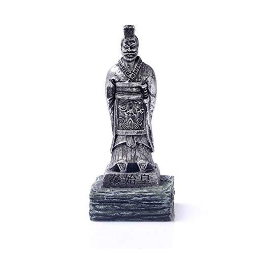 YANGYUAN El Emperador Qin Shihuang la Resina ejército de Terracota del Primer Emperador de China de China Xian (Color : Silver)