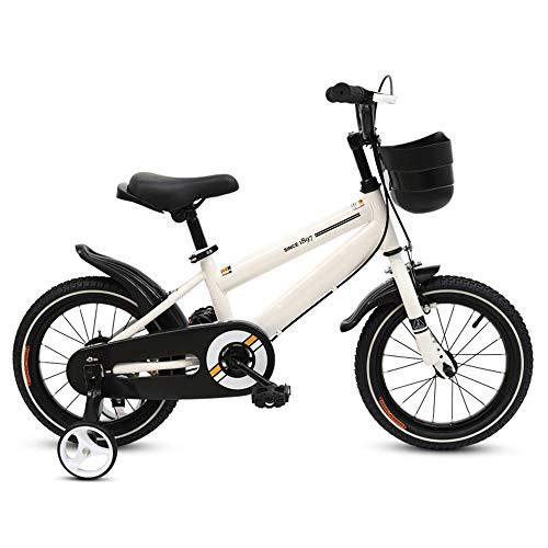Kinderfahrräder HAIZHEN Kinderwagen Freestyle, Verstellbarer Sitz und Griff 12-14-16-18- Zoll-Räder, 3 Farben erhältlich Für Neugeborene (Farbe : Weiß, größe : 14 inch)