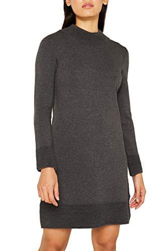 ESPRIT Damen 109Ee1E013 Kleid, Grau (Anthracite 5 014), Small (Herstellergröße: S)