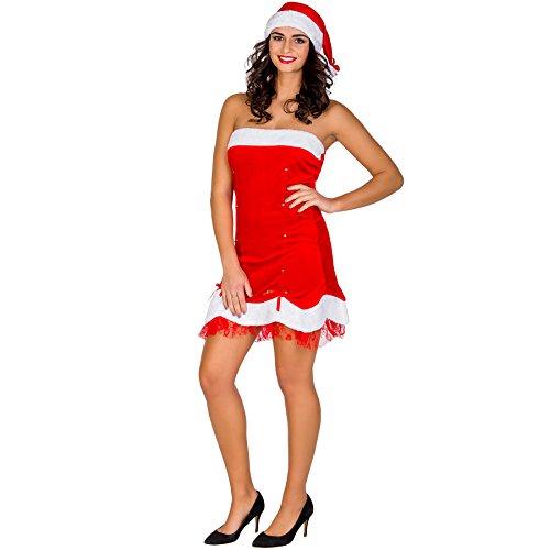 TecTake dressforfun Damenkostüm sexy Weihnachtslady Weihnachts Kostüm | kurzes Kleid & freche Zipfelmütze (XXL | Nr. 300491)