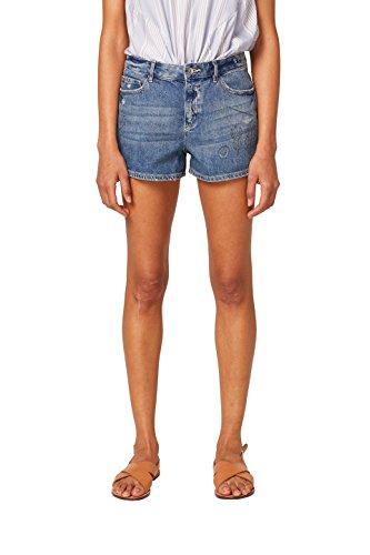 edc by ESPRIT Damen 058CC1C009 Shorts, Mehrfarbig (Blue Dark Wash 901), 28
