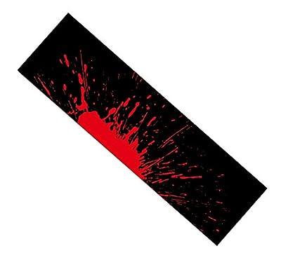 Black Temptation Skateboard Grip Band Blatt Blase Freie Scrub Aufkleber Abriebfeste Anti-Rutsch, Schwarz und Rot #38