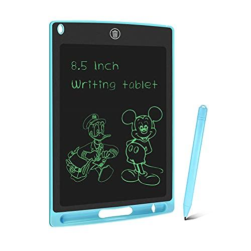 WOBEECO 8,5 Pulgadas Tableta de Escritura LCD, Tableta Grafica Digital con Bloqueo de Pantalla Borrable y Reutilizable, Pizarra Magica Electronica para Dibujo Niños y Juguete Educativo (Azul)