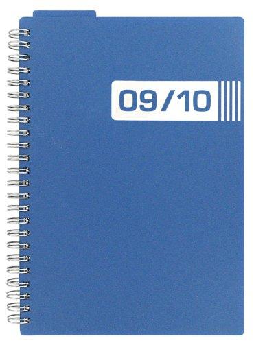 Letts Academic-Agenda digitale Polypro 09-10 12 mesi, formato A6, con visualizzazione settimanale, colore: blu