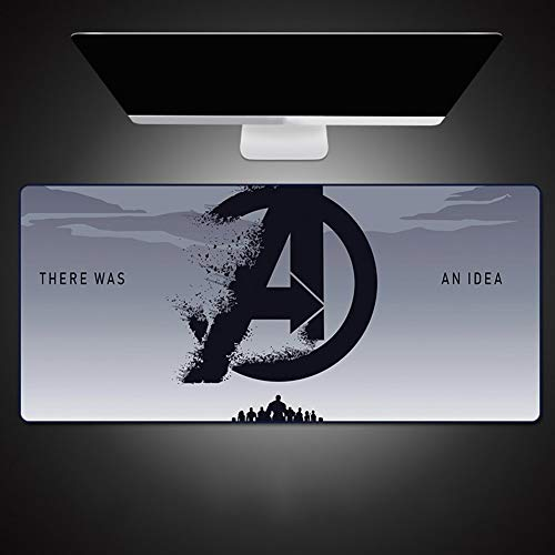 Mouse Pads Marvel Stark Iron Man Table Mat, Gaming Anime Extended Keyboard Pad, Non-Slip Rubber Base and Waterproof Surface (Color : D, Size : 300X800X4mm)