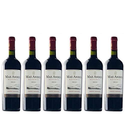 Rotwein Chile Baron Philippe de Rothschild - Mas Andes Reserva Cabernet Sauvignon trocken - 6x0,75L