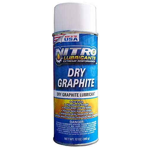 Tarantula Tools Nitro Lubricants Dry Graphite Aerosol Spray Lubricant in Can - High Temp Graphite Spray Lubricant for Preventing Metal Wear - Resistant to Water and Oil - 1 Aerosol Can (1)