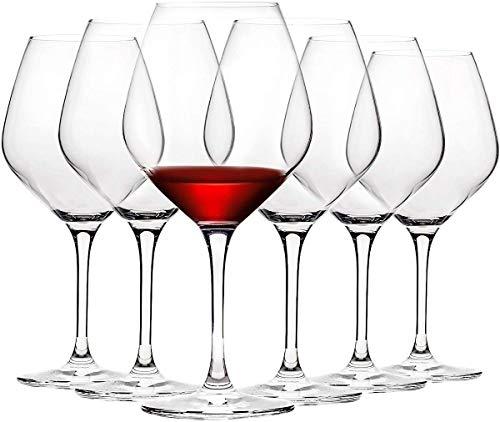 22-Unzen-Kristall-Burgunder-Weingläser, italienische maschinell hergestellte, klare Rotwein-Stielware für Hausbars und Esstische, empfohlen von Köchen und Sommelier