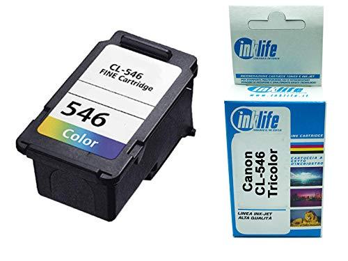 Cartuccia d'inchiostro Ricostruita Inklife Canon CL-546 Compatibile per Canon PIXMA MX495 TS3150 TS205 TS305 TR4550 TR4551 MG2455 MG2900 MG3050 MG3051 MG3052 MG3053 iP2850 (Standard)