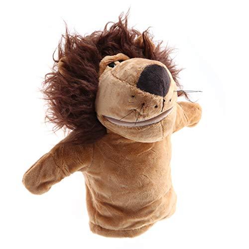 Toyvian Peluche de león, marioneta de mano de peluche, para adultos, bebés y niños, juegos de rol