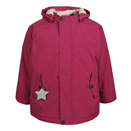 MINI A TURE Kinder Winterjacke Wally 19 Cherry (Kirschrot), Größe:104 cm/3-4