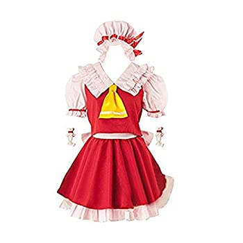 YuanCos Touhou Project Flandre Scarlet Girls Red Pink Lolita Dress Cosplay Costume  FemaleXS