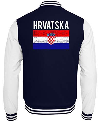 Generic Kroatien - Fahne, Flagge, Kroatisch, Kroate, Kroatin, Zagreb, Hrvatska, Republik Kroatien - College Sweatjacke