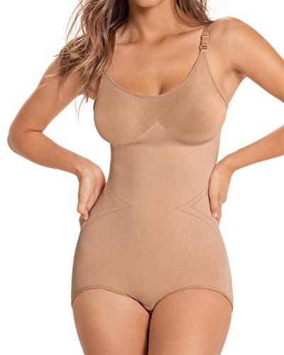 Leonisa Body Reductor Invisible para Mujer- Fajas sin Costuras y con Tirantes
