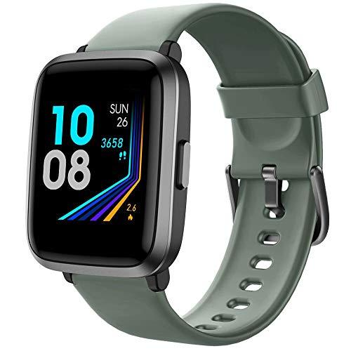 YAMAY Smartwatch con Saturimetro Misuratore Pressione Cardiofrequenzimetro Orologio Fitness Uomo...