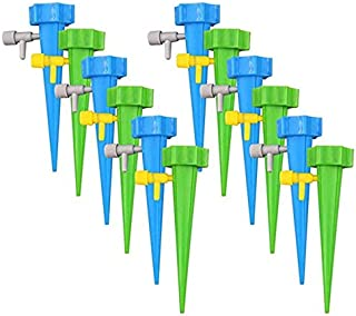 12pcs Self Watering Spikes, Plant Waterer, Plant Watering Devices, Automatic Vacation Drip Irrigation Watering Bulbs Globe...