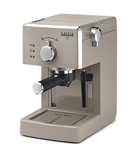 Gaggia Viva Chic Cappuccino - Máquina de café expreso manual para molinado y monodosis, RI8433/14
