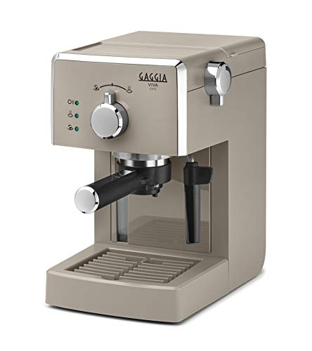 Gaggia Viva Chic Cappuccino RI8433/14 - Máquina de café expreso manual para moler y monodosis