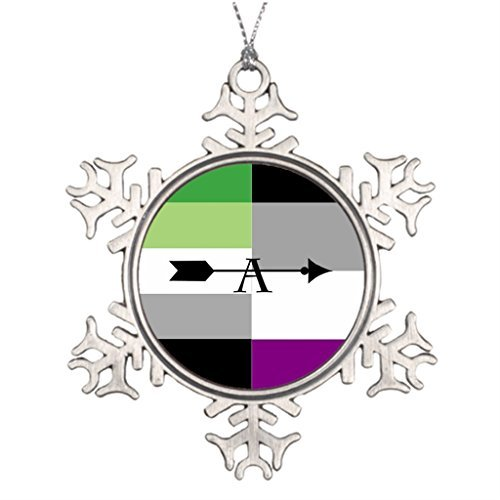 Yilooom Tree Branch Decoration Aromantic Asexual ARO Ace Pin ARO Funny Snowflake Ornaments