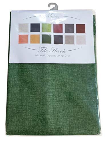 mediatex srl Paño de decoración Sorrento Granfoulard, 8 Colores, 240x280 cm (Verde)