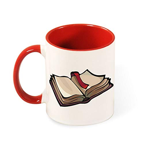 Open Book Best Funny Coffee Mug Sarcastic Novelty Cup Joke Great Gift Idea For Men Women Office Work Adult Humor Employee Boss Coworkers 11 Oz 6 Colors