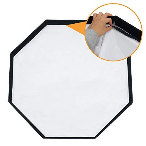 LimoStudio 32 inch Diameter Octagon Umbrella Softbox Reflector, White Soft Lighting Diffuser Cover and Carrying Bag, AGG2355