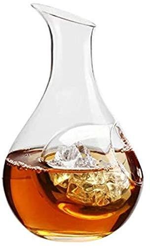 Decantador de vino de cristal hecho a mano, Frasco de cadera de hielo 300-400ml Whisky 2 estilos Sin plomo Cristal Creativo Vino Decantador Vino Vino Dispensador Botellas Vino Copa de vino Barra (colo