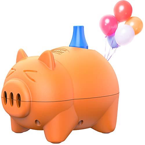 Dr.meter Elektrische Ballonpumpe, Tragbare Schweinchen förmige Ballonaufblasgeräte für Weihnachtsdekoration, Party, Hochzeit, Geburtstag, Werbeaktivitäten und Festdekoration