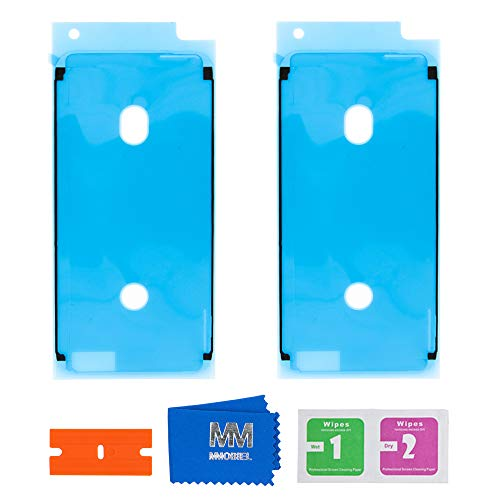MMOBIEL 2X Pegatina Adhesiva pre-Cortada Impermeable Compatible con iPhone 6 / 6S - 4.7 pulg. para Marco de LCD (Blanco)