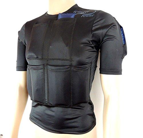 Icinger Power T-Shirt Minceur refroidissant 2000G - pour maigrir par Le Froid - Également pour la récupération Musculaire - Taille L