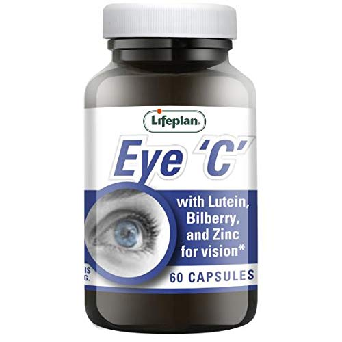 Lifeplan Eye 'C' with Lutein Bilberry & Zinc Capsules x 60. Helps Maintain Healthy Eyes