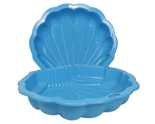Ondis24 Sandkasten Wassermuschel blau 2-TLG., ca. 102 (L) x 88 (B) x 20 (H) cm